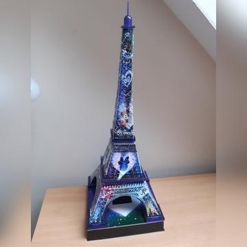 wieża eiffla 3D puzzle podświetlana