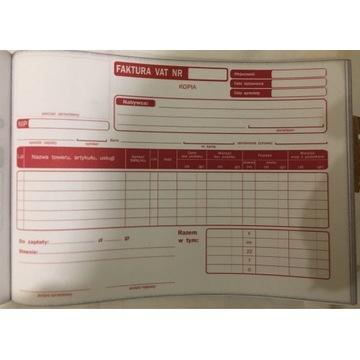 Druk faktura VAT A5 1+2 20 szt