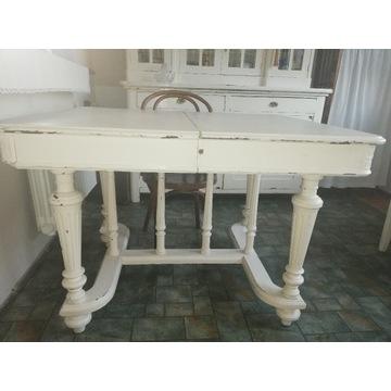 Stół antyczny eklektyczny francuski biały