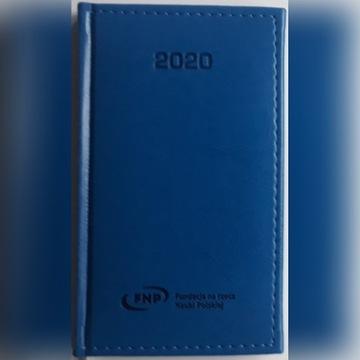 Kalendarzyk 2020, niebieski