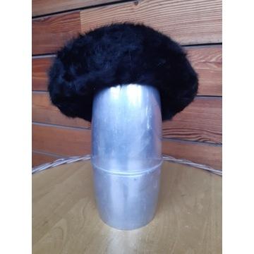 3wełniane berety z angorą: czarny, brazowy, szary