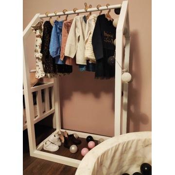 Wieszak dziecięcy stojak garderoba drewniana