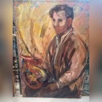 Obraz autoportret Józef Wasiołek
