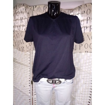 38 M Czarna koszulka klasyczny top C&A bluzka L