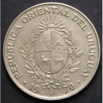 Urugwaj 50 pesos 1970 - stan menniczy -
