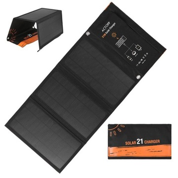 Panel solarny turystyczny 5V 21w 5V21W 2xUSB