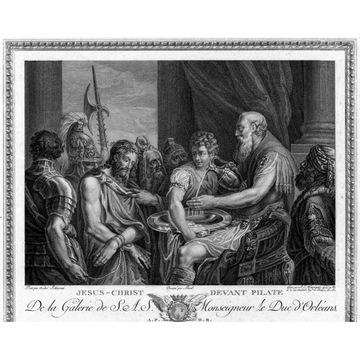 Schiavone- akwaforta 1786, Jezus przed Piłatem