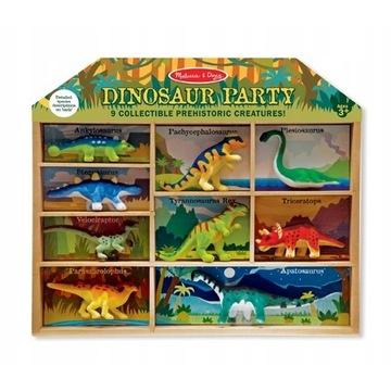 Zestaw figurek Dinozaury - 9 SZTUK + NIESPODZIANKA