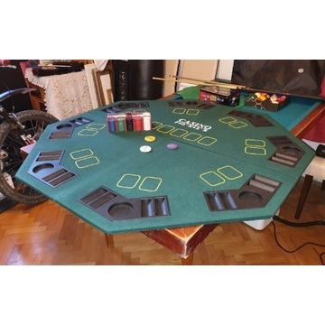 Rozkładany blat do pokera Texas Holdem