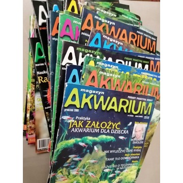 Magazyn Akwarium komplet z lat 2001-2004