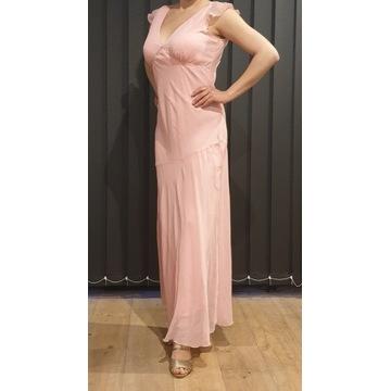 Suknia różowa ślubna wieczorowa 38