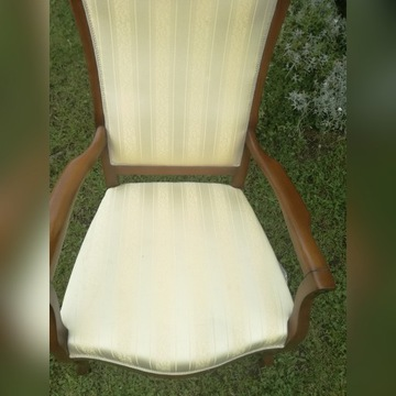 fotel w stylu Chippendale shabby chic