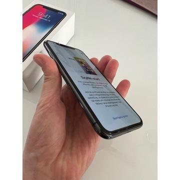 iPhone X 64 gb czarny, 100% sprawny, stan idealny