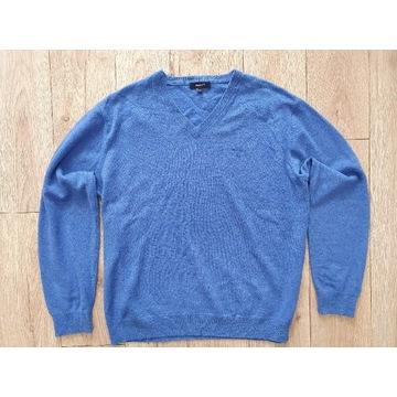 Gant męski sweter XL wełna owcza 100% stan bdb!