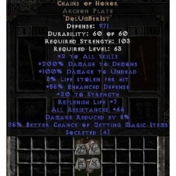 Unid CoH / Okowa Grozy - Diablo 2 LOD NOWY LADDER