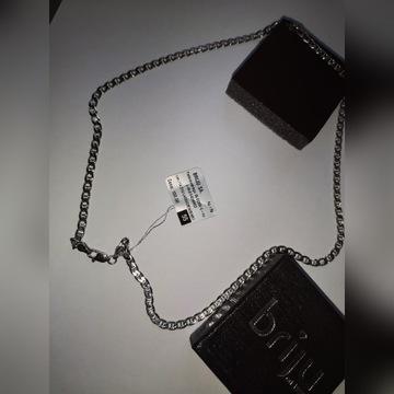 Srebrny łańcuszek Briju 50cm. Próba 925, Nowy! 4mm