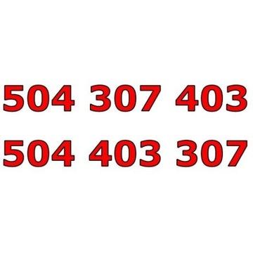 504 307 403 + 504 403 307 ORANGE ZŁOTY NUMER PARA