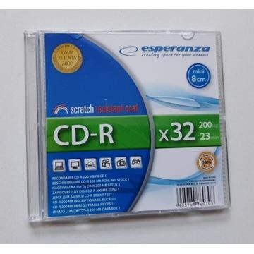 NOWA płyta CD-R mini 200MB Esperanza w pudełeczku