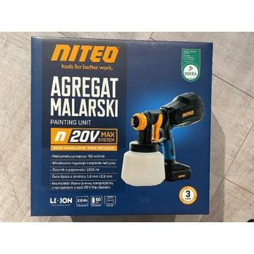 Nowy akumulatorowy agregat malarski Niteo 20V gwar