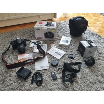 Canon 700D z dwoma obiektywami - Mało używany