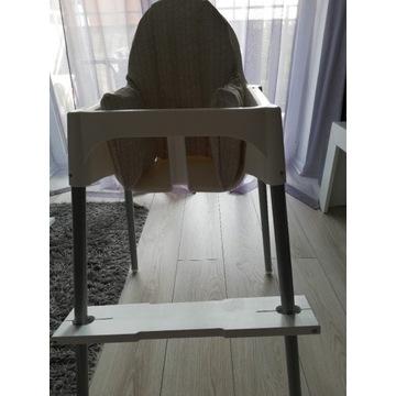 Ikea Antilop krzesełko taca poduszka podnóżek