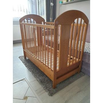 Łóżeczko dla dziecka drewniane + materac