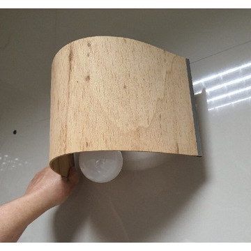 Lampa, kinkiet drewno