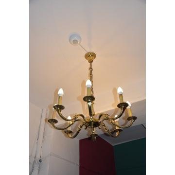 Lampa mosiężna 8-ramienna ANTYK