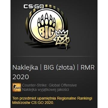 Naklejka CS:GO BIG (złota) RMR 2020