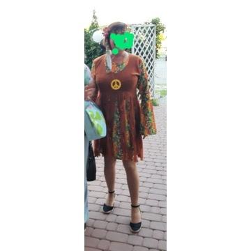 Sukienka kostium hipiski rozmiar 42