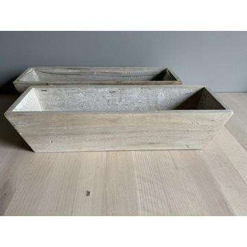 2 drewniane osłonki - nowe