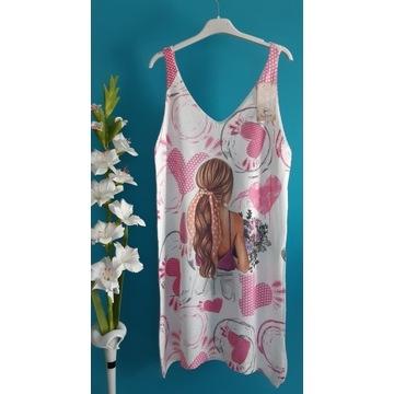 Piękna WŁOSKA tunika sukienka prezent