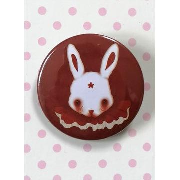 Przypinka Królik -Circus rabbit-