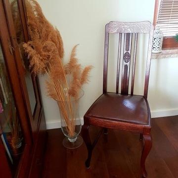 Drewniane krzesło DĄB, antyczne
