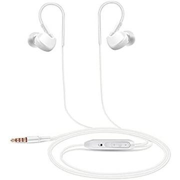 Słuchawki douszne ALLCART białe z mikrofonem jack