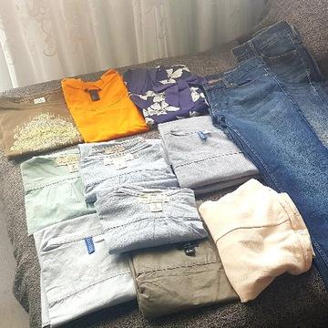 Zestaw rzeczy ubrań męskich H&M i inne