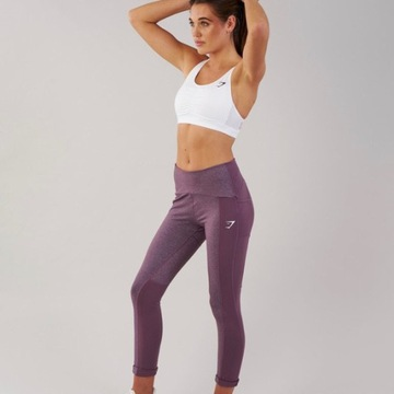 Legginsy Gymshark textured purple wash roz. S