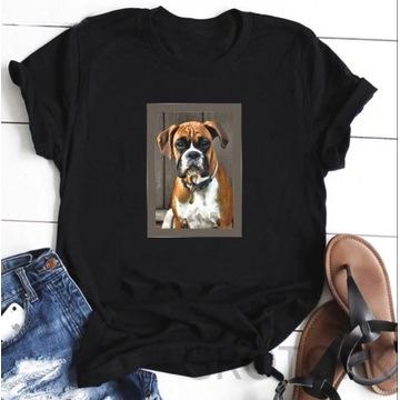 Koszulka t-shirt lato pies bokser boxer S-XXL