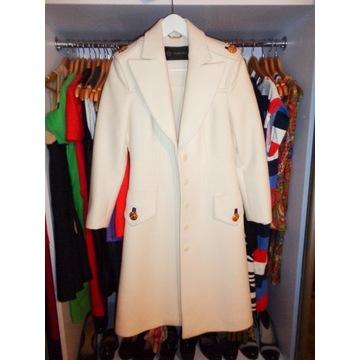 VERSACE wspaniały płaszcz IT42 (36) wełna i jedwab
