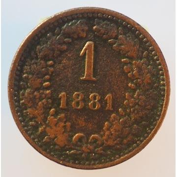 1 krajcar kreuzer 1881