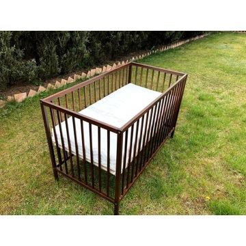 Drewniane łóżeczko Ikea i materac HILDING SMYK