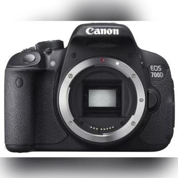 Canon EOS 700D body + torba + baterie + SD 32GB