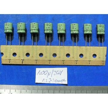 kondensatory elektrolityczne  100uF25V