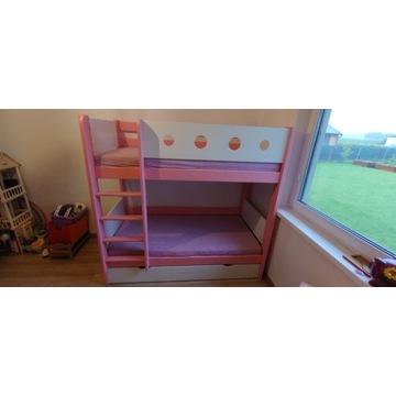 Łóżko piętrowe 168 x 90 z materacami