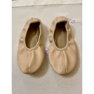 Skórzane różowe baletki 27