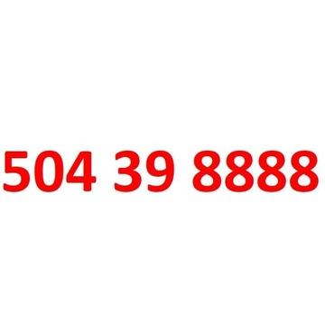 504 39 8888 starter orange złoty numer