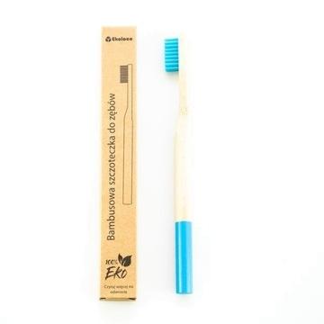 Bambusowa szczoteczka do zębów eko twarda niebiesk