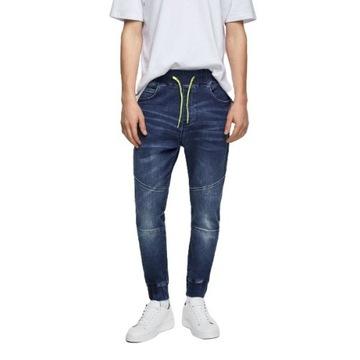 ZARA spodnie męskie denim jogger rozmiar XL