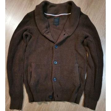Kardigan Brązowy marki Produkt roz S ciepły sweter