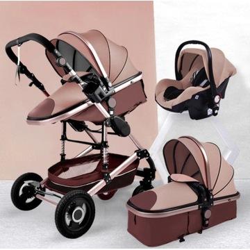 Wielofunkcyjny wózek dziecięcy 3w1 spacerówka nowy